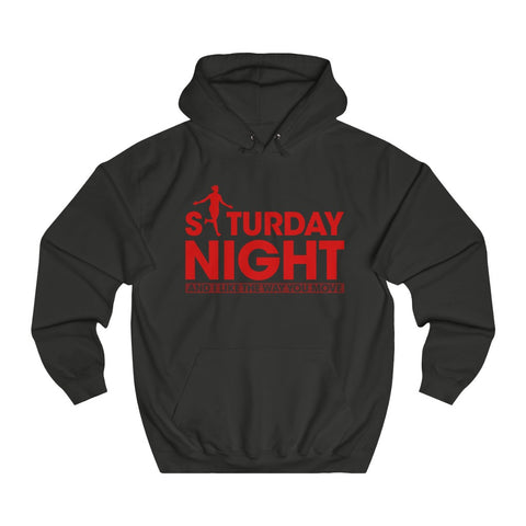 Saturday Night - Unisex Hoodie - Red Design