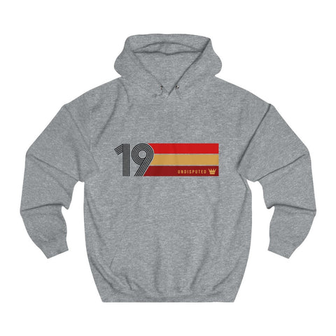 Undisputed 19 (On White) - Unisex College Hoodie