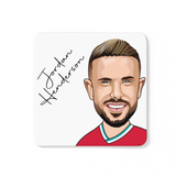 Jordan Henderson - Liverpool FC Caricature LFC Coaster (White Background)