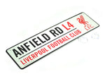 Liverpool 3D Embossed Metal Hanging Street Window Sign