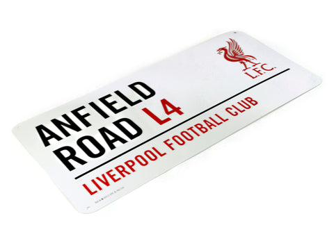 Liverpool Anfield L4 Red Text Street Sign