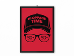 Kloppage Time Print (Black Image) - A3, A4 or A5