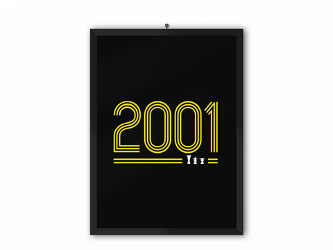 2001 Retro Print (Yellow Text) - A3, A4 or A5