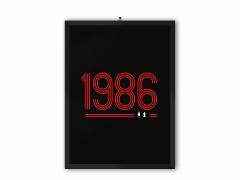 1986 Retro Print (Red Text) - A3, A4 or A5