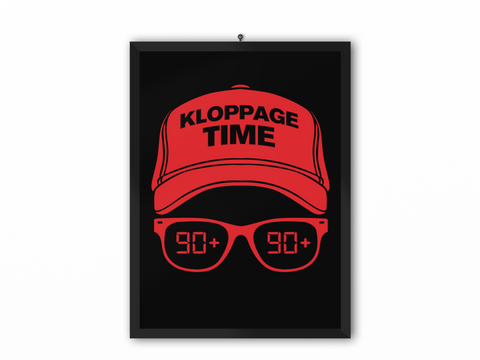 Kloppage Time Print (Red Image) - A3, A4 or A5