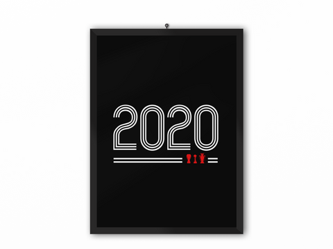 2020 Retro Print (White Text) - A3, A4 or A5