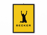 Becker Print (Black Text) - A3, A4 or A5