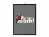 Mentality Monsters Print (White Text) - A3, A4 or A5