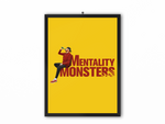 Mentality Monsters Print (Red Text) - A3, A4 or A5