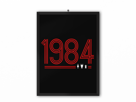 1984 Retro Print (Red Text) - A3, A4 or A5