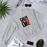 Calm As You Like Sweatshirt (Unisex) - Black and Red