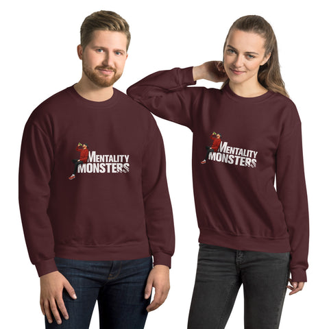 Mentality Monsters Unisex Sweatshirt - White Design