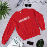 UNBEARABLES Unisex Sweatshirt - White & Red Font