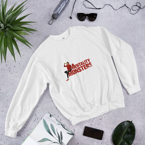Mentality Monsters Unisex Sweatshirt - Red Design