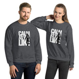 Calm As You Like Sweatshirt (Unisex) - Black and White