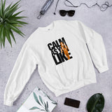 Calm As You Like Sweatshirt (Unisex) - Black and Orange