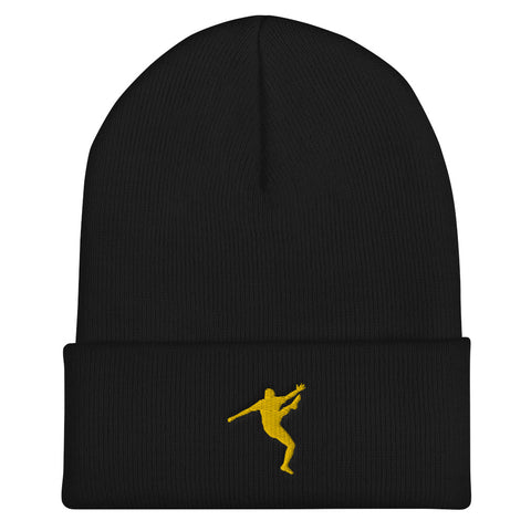 BOBBY KUNG FU - Cuffed Beanie - Yellow Design