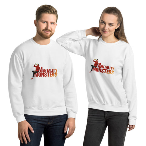 Mentality Monsters Unisex Sweatshirt - Red & Yellow Design