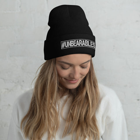 UNBEARABLES Cuffed Beanie - White Design