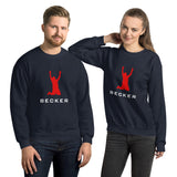 BECKER Unisex Sweatshirt - White & Red Design