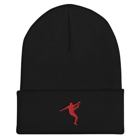 BOBBY KUNG FU - Cuffed Beanie - Red Design