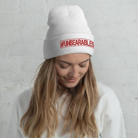 UNBEARABLES Cuffed Beanie - Red Design
