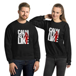 Calm As You Like Sweatshirt (Unisex) - White and Red