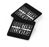 Doubters To Believers Icon - LFC Coaster (Black Background)