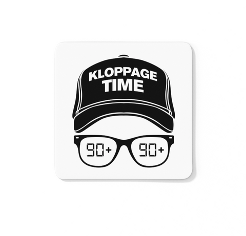 Kloppage Time Icon - LFC Coaster (White Background)