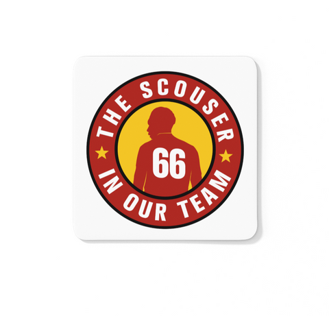 Scouser In Our Team Icon - LFC Coaster (White Background)