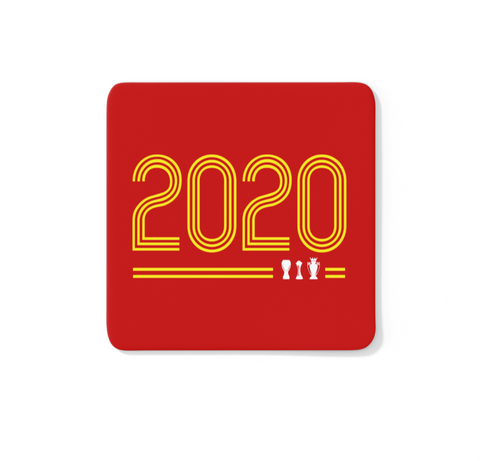 2020 Retro Champions 19/20 LFC Coaster (Red Background)