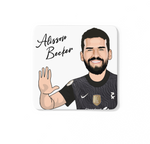 Alisson Becker - Liverpool FC Caricature LFC Coaster (White Background)