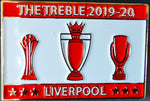 Liverpool LFC Treble Winners 2019-20 Pin Badge