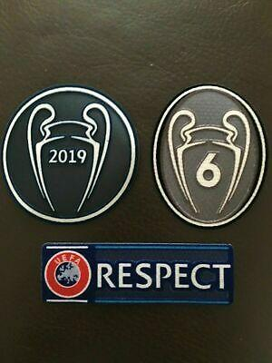 UEFA UCL Adult Winners Badge 2019 6 Respect triple pack