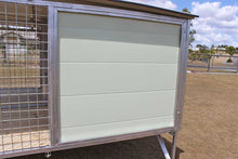"Load image into Gallery viewer, ""Aussie Box"" Large Raised Double Dog Kennel"