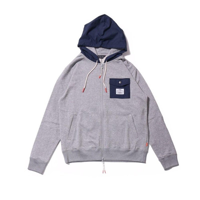 Poler Basswood Zip Hoodie Heather Grey