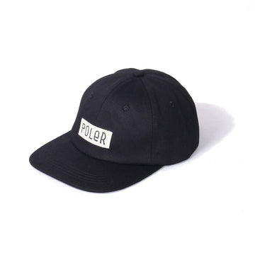 Poler Furry Font 6panel Cap Black