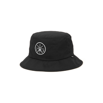 Poler Golden Circle Drawcord Bucket Hat Black