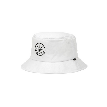 Poler Golden Circle Drawcord Bucket Hat White
