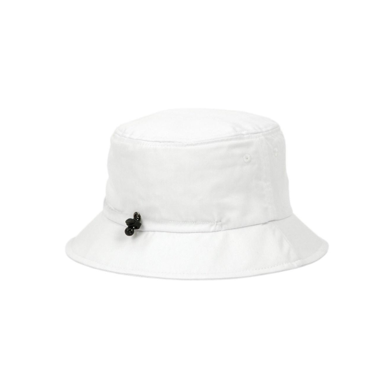 Golden Circle Drawcord Bucket Hat-White