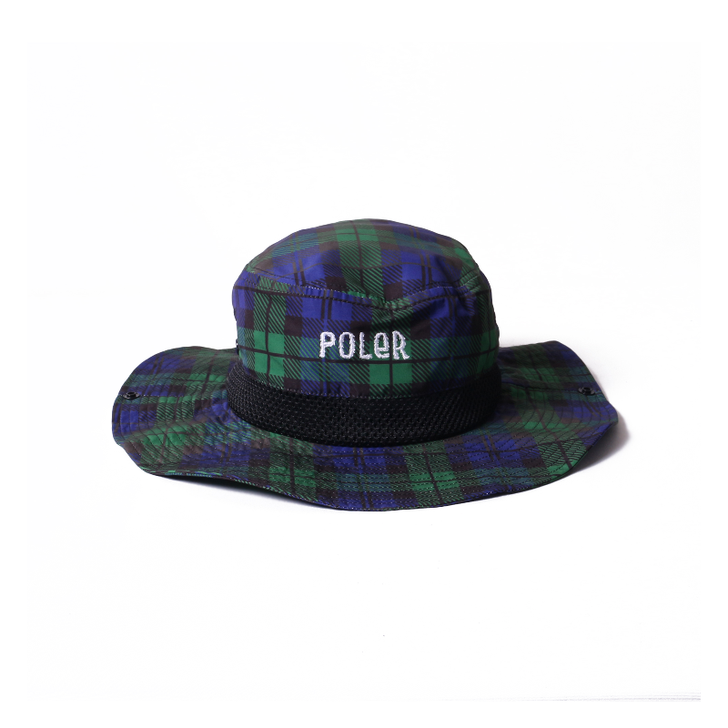 Poler Furry Font 2way Drawcord Long Brim Hat Black Watch