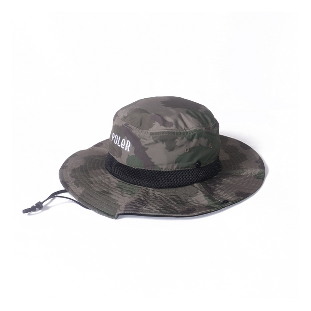 Furry Font 2way Drawcord Long Brim Hat-Olive Furry Camo