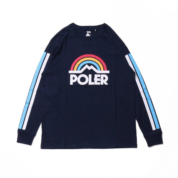 Mountain Rainbow Long Sleeve Tee-Navy