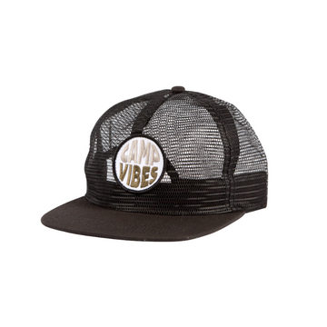 Poler Pop Top Full Mesh Trucker Black