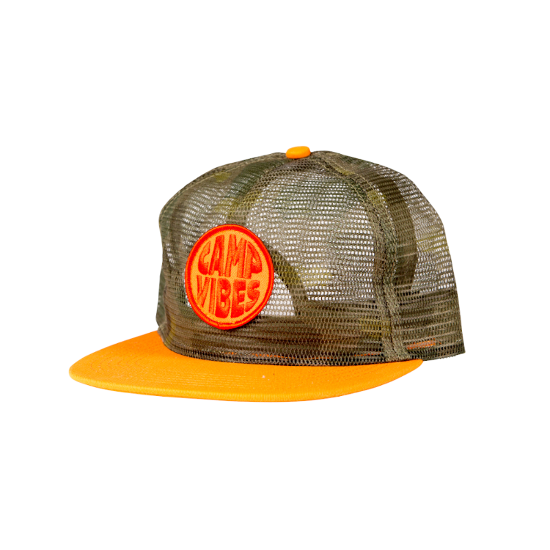 Poler Pop Top Full Mesh Trucker Furry Green Camo