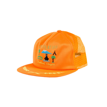 Poler Tourist Trap Mesh Trucker Burnt Orange