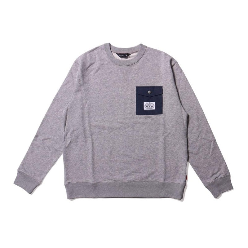 Poler Basswood Crew Heather Grey