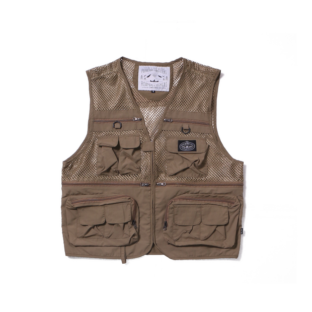 Multi Pocket Vest-Beige-LAST ONE!