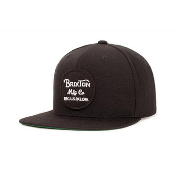 Wheeler Snapback Black