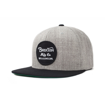 Wheeler Snapback Light Heather Grey and Black